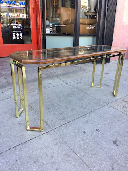 Classic 1980s Console Table