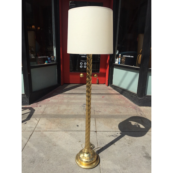 Brass Spiral Floor Lamp