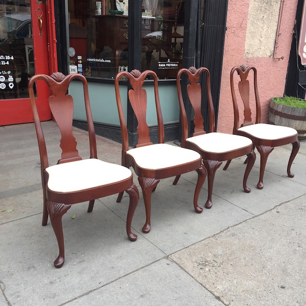 Classic Mahogany Chippendale Dining Chairs