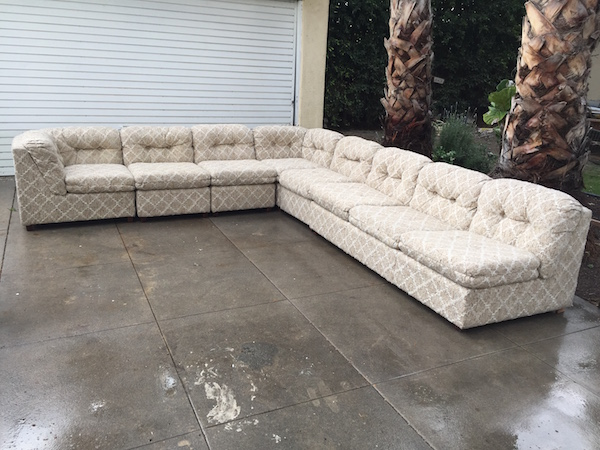 1970s Modern Sectional with Full Size Sleeper