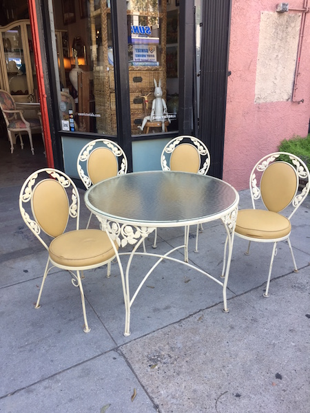 Vintage Patio Table and Four Chairs