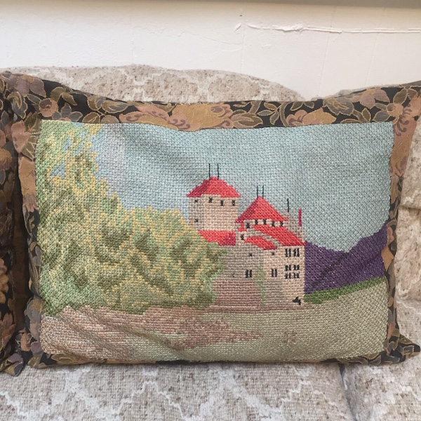 Pair of Antique Hand Stitched Pillows
