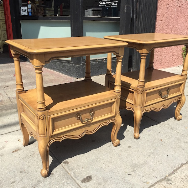 Pair of French-style Night Stands