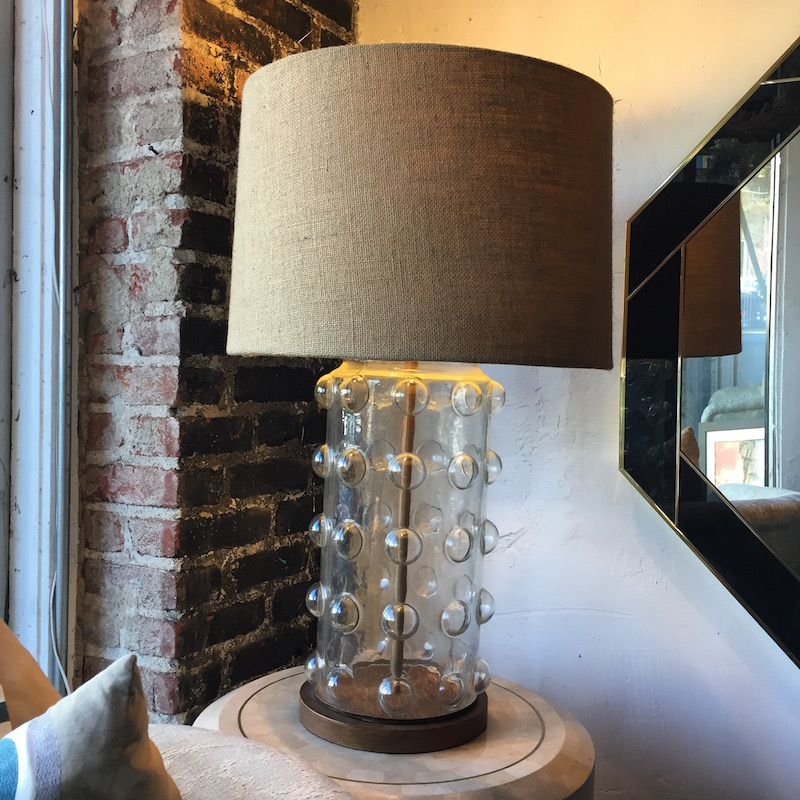 Large Contemporary Bubble Glass Lamp