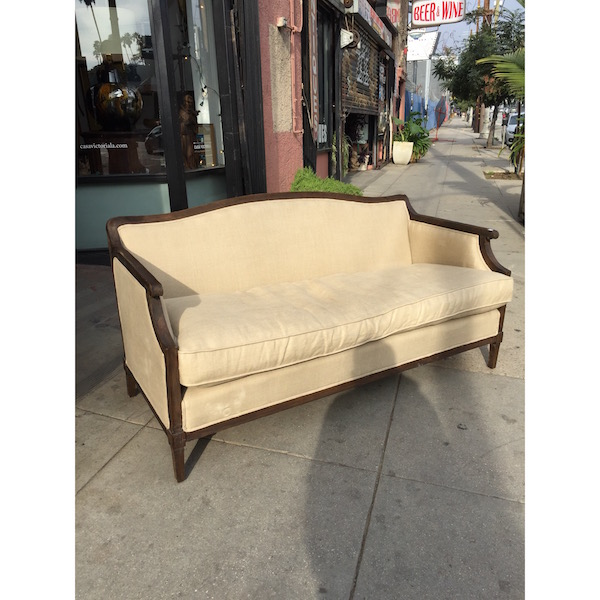 Classic French-style Laurent Love Seat by Restoration Hardware
