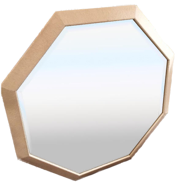 Large 1980s Octagonal Mirror