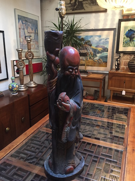 Large Antique Confucius Statue
