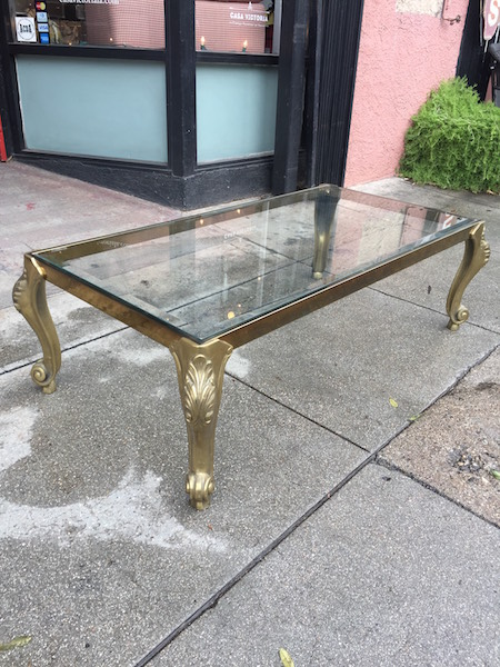 Classic Brass and Glass Coffee Table