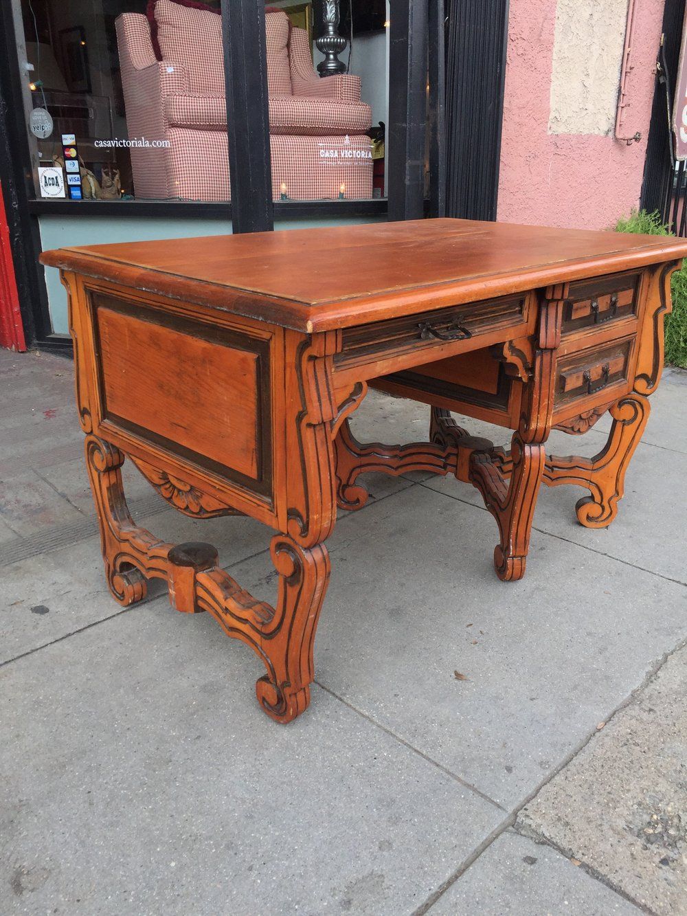 Hand Carved Mexican Hacienda Desk