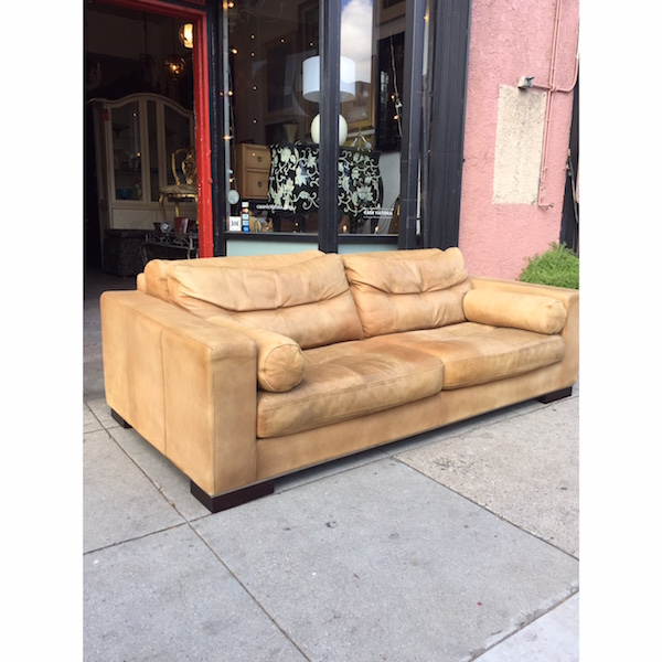 Custom Made Contemporary Style Leather Sofa