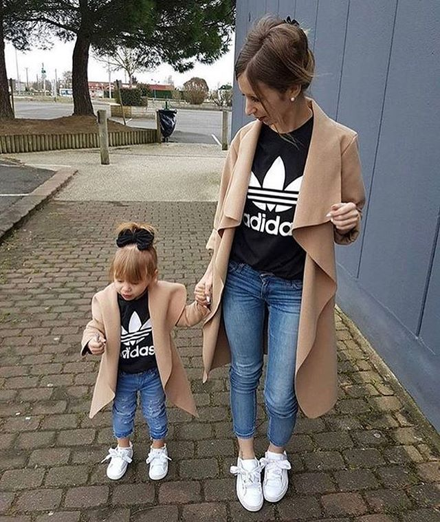 """Dressing well is a form of good manners.""-- Tom Ford  We love these mommy and me outfits, what are some ways you like to play ""dress up"" with your little ones? 👡👛💄"