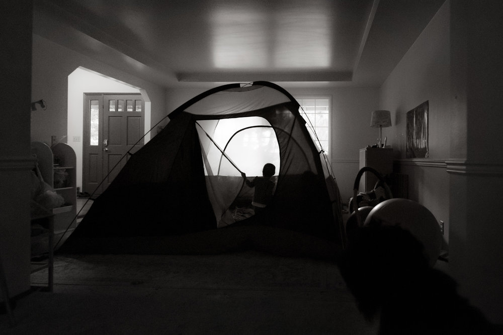 day 27 {camping in the playroom}