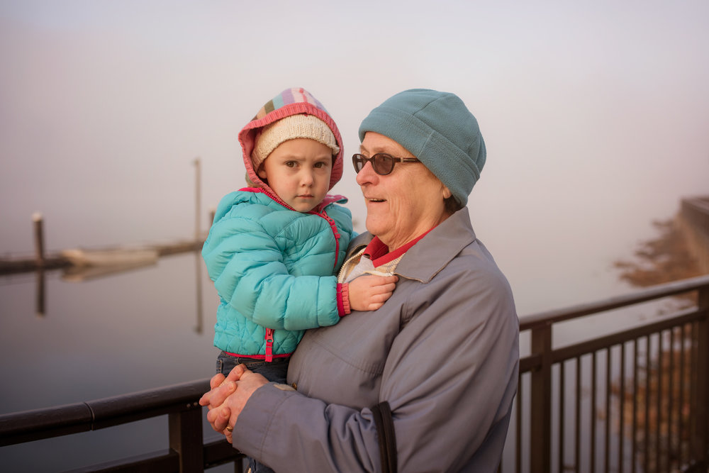 Getting carried by grandma on the waterfront | amy selleck photography | amyselleck.com
