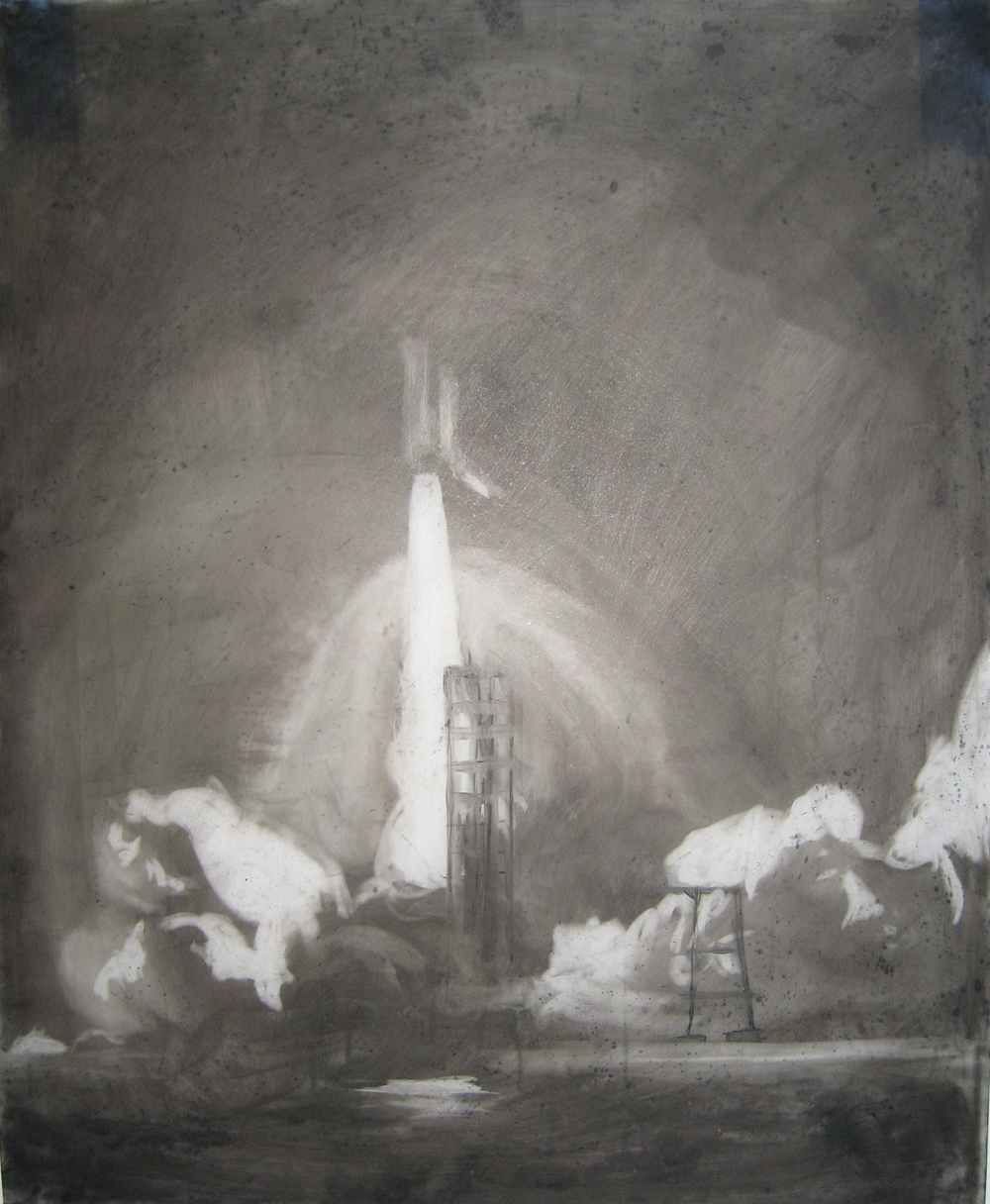 Columbia  2007 Charcoal on vellum, 17 x 14 inches