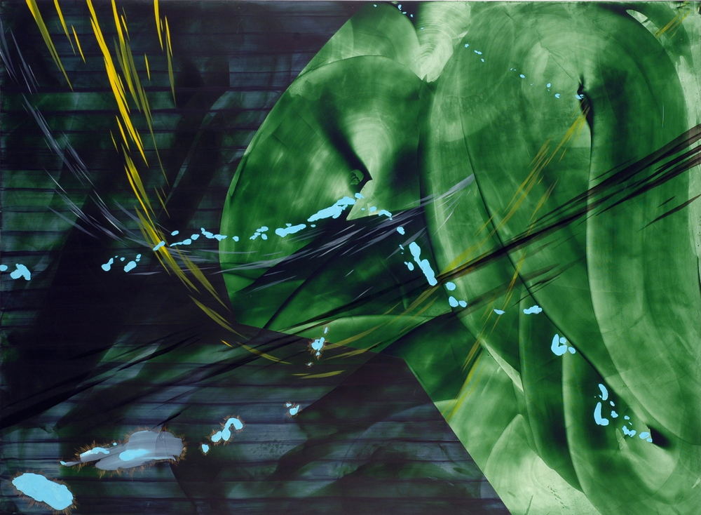 Magnetic Winds with Religious Implications  2006 Oil and acrylic on panel, 48 x 36 inches