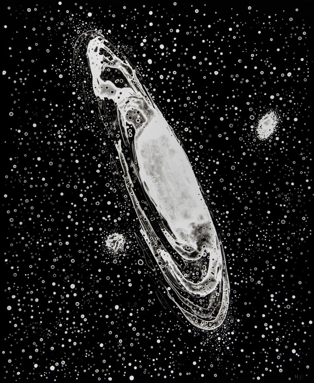 M31, 2013, cliché-verre,17 x 14 inches