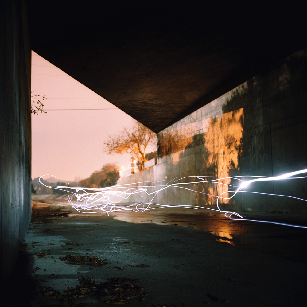 LA River Bridge  2007 c-print, 48 x 48 inches