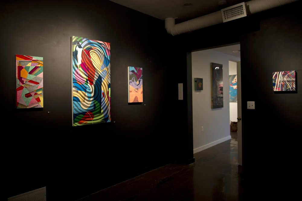 The Dark Room featuring works by TEAD during Fractured, February 2017.