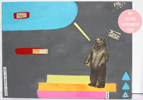mixed media - enjoy bear