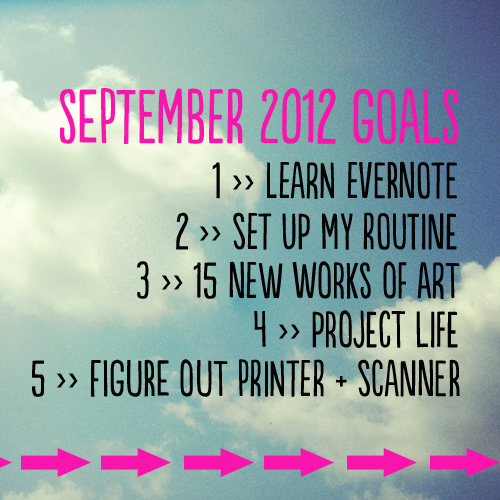 monthly goals for september