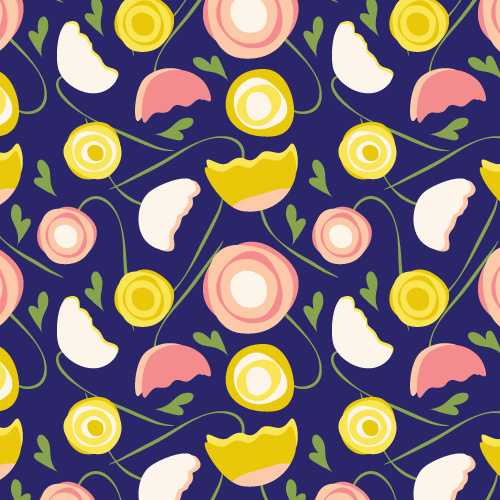 repeat pattern : pink poppy
