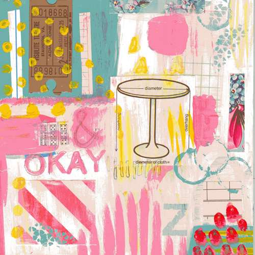 mixed media piece : okay table