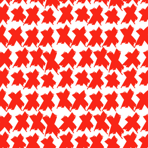 tammie bennett's repeating pattern red crosses