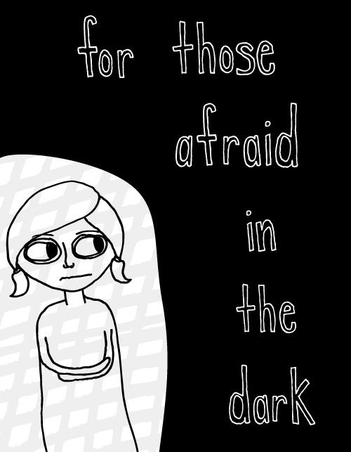 afraid in the dark illustration