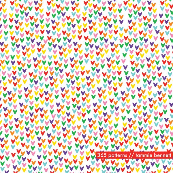 rainbow valentine pattern