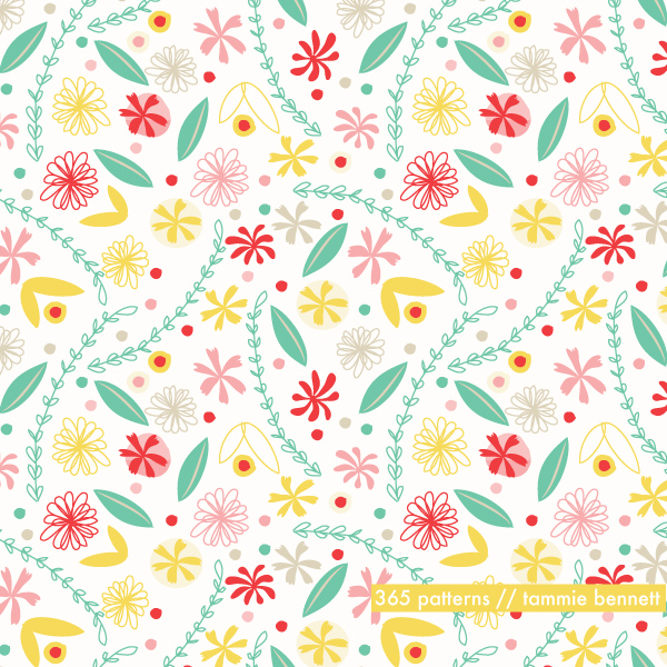 spring flower repeat pattern