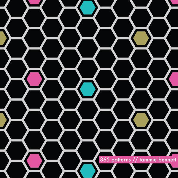 techy honeycomb pattern