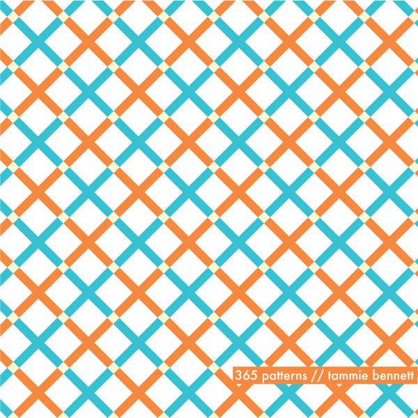 x check pattern