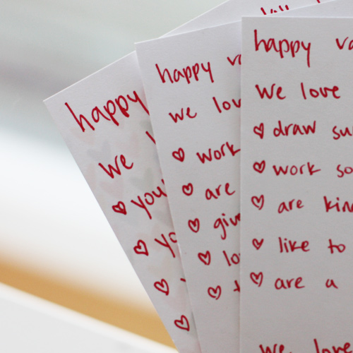 valentine's notes