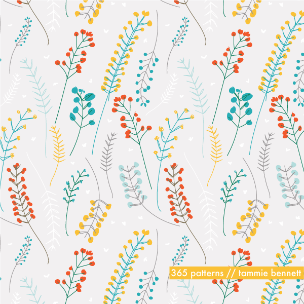 tammie bennett's wildflowers repeat pattern