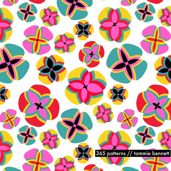 fiesta poppy repeat pattern