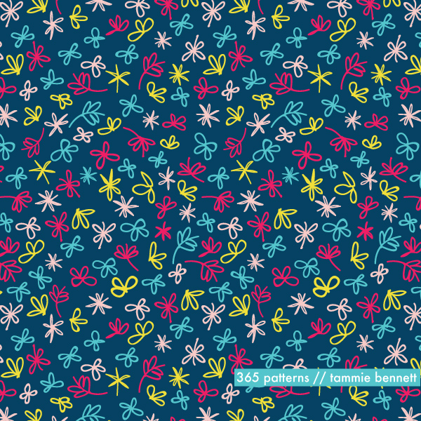 flowers dance repeat pattern