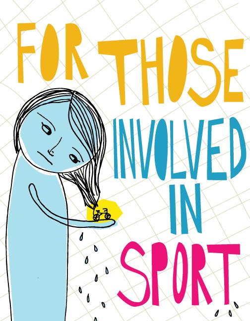 involved in sport illustration