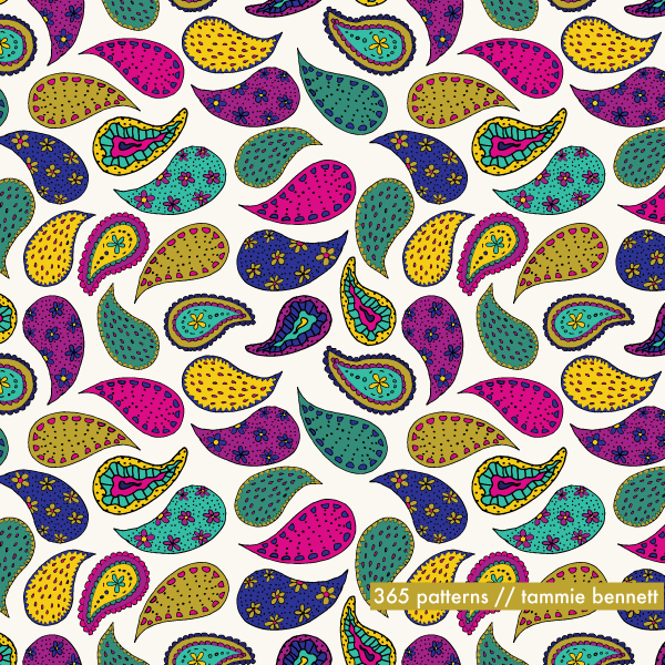 paisley repeat pattern