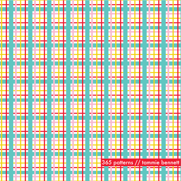 simple plaid repeat pattern