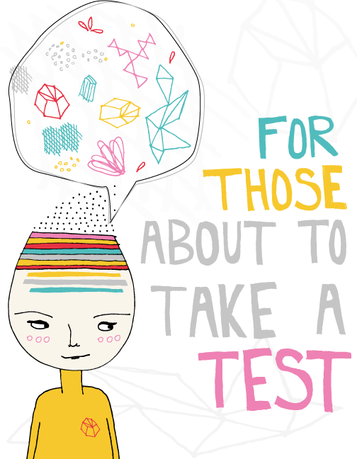 test taker illustration for my dear universe project