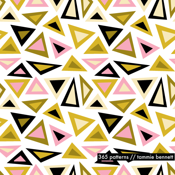 licorice triangle repeat pattern