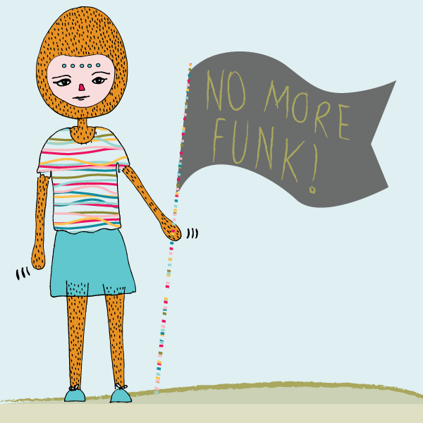 tammie bennett's illustration of no more funk