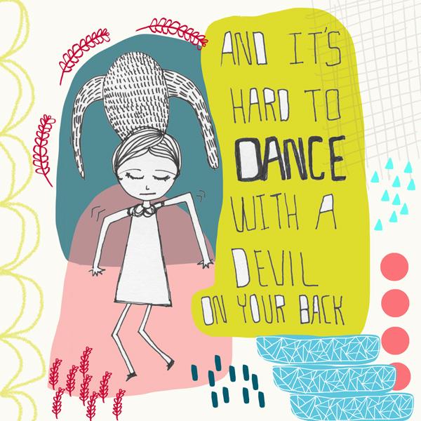 it's hard to dance artwork by tammie bennett