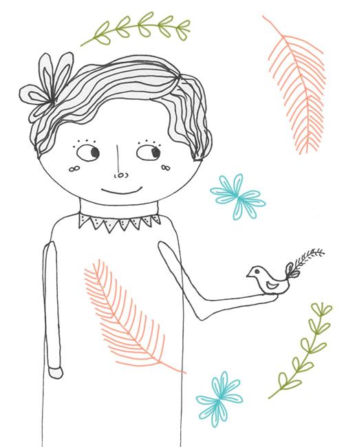 tammie bennett's feather swirl girl