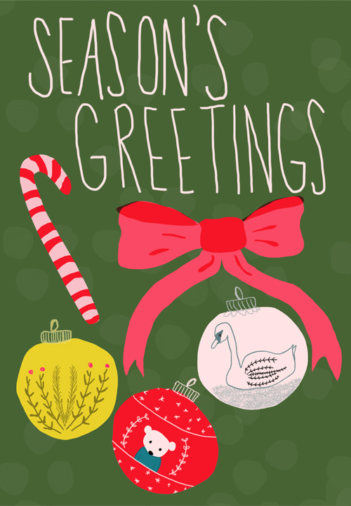tammie bennett's season's greetings card