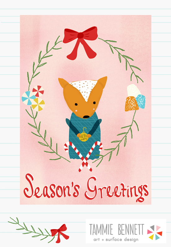 tammie bennett's holiday card