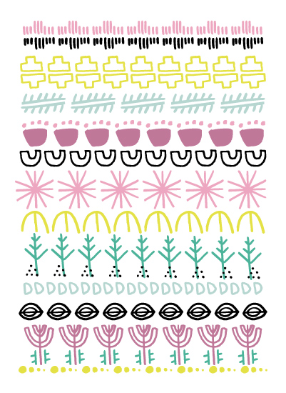 tammie bennett's tribal garden print