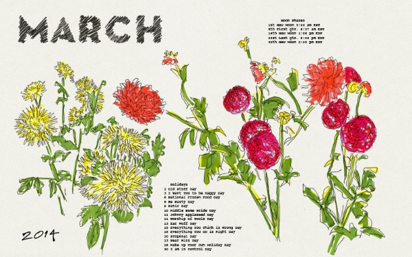 kimberly allen hall's march calendar