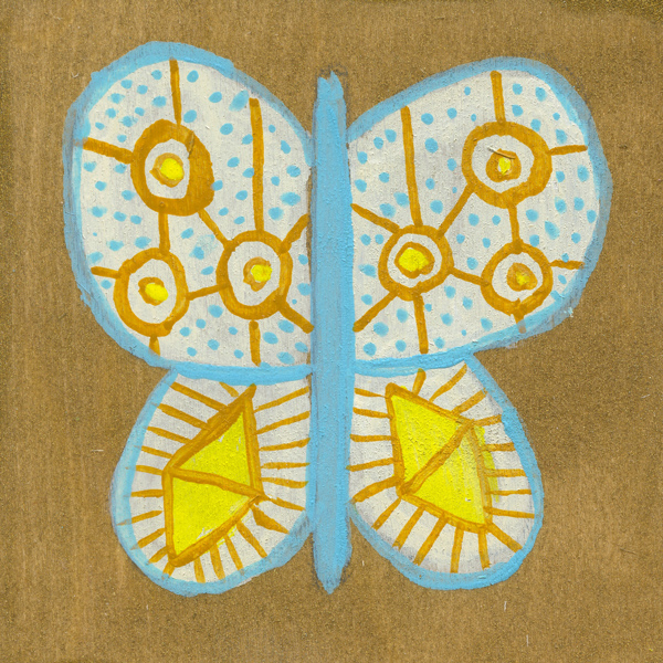 tammie bennett's sky eye butterfly for her monthly art project #DOZENdozen