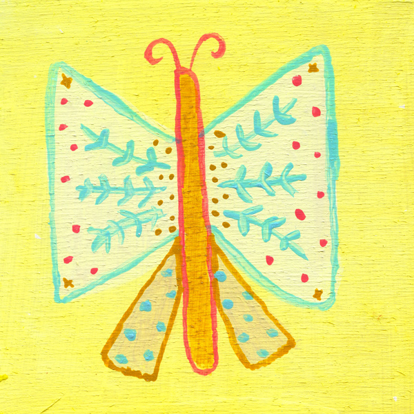 tammie bennett's folky butterfly for her project #DOZENdozen